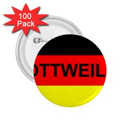 Rottweiler Name On Flag 2.25  Buttons (100 pack)
