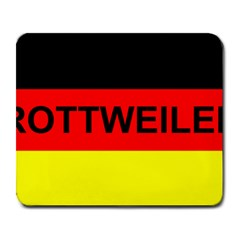 Rottweiler Name On Flag Large Mousepads