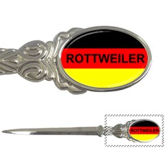 Rottweiler Name On Flag Letter Openers