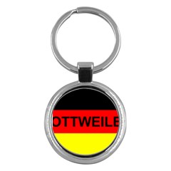 Rottweiler Name On Flag Key Chains (Round)