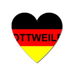 Rottweiler Name On Flag Heart Magnet