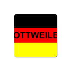 Rottweiler Name On Flag Square Magnet