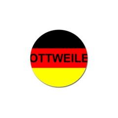 Rottweiler Name On Flag Golf Ball Marker (10 pack)