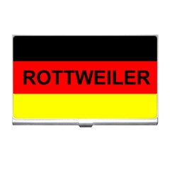 Rottweiler Name On Flag Business Card Holders