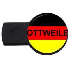 Rottweiler Name On Flag USB Flash Drive Round (2 GB)