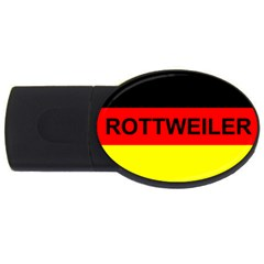 Rottweiler Name On Flag USB Flash Drive Oval (2 GB)
