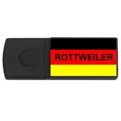 Rottweiler Name On Flag USB Flash Drive Rectangular (1 GB)