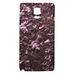 Pink Rainbow Shimmering Mother of Pearl Galaxy Note 4 Back Case
