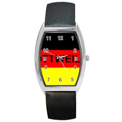 Rottweiler Name On Flag Barrel Style Metal Watch
