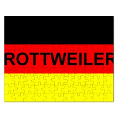 Rottweiler Name On Flag Rectangular Jigsaw Puzzl