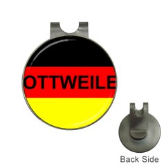 Rottweiler Name On Flag Hat Clips with Golf Markers