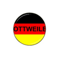 Rottweiler Name On Flag Hat Clip Ball Marker (10 pack)