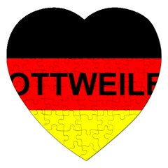 Rottweiler Name On Flag Jigsaw Puzzle (Heart)