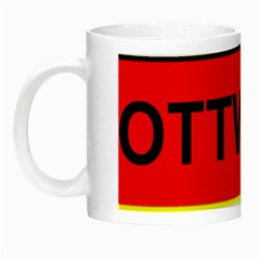Rottweiler Name On Flag Night Luminous Mugs