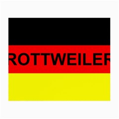 Rottweiler Name On Flag Small Glasses Cloth