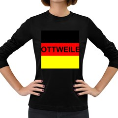 Rottweiler Name On Flag Women s Long Sleeve Dark T-Shirts