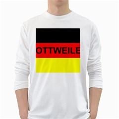 Rottweiler Name On Flag White Long Sleeve T-Shirts