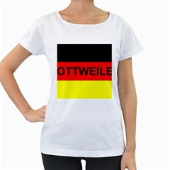 Rottweiler Name On Flag Women s Loose-Fit T-Shirt (White)
