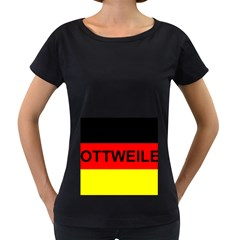 Rottweiler Name On Flag Women s Loose-Fit T-Shirt (Black)