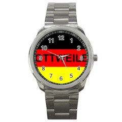 Rottweiler Name On Flag Sport Metal Watch