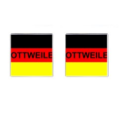 Rottweiler Name On Flag Cufflinks (Square)