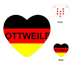 Rottweiler Name On Flag Playing Cards (Heart)