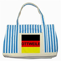 Rottweiler Name On Flag Striped Blue Tote Bag