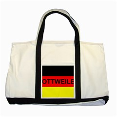 Rottweiler Name On Flag Two Tone Tote Bag
