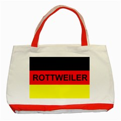 Rottweiler Name On Flag Classic Tote Bag (Red)
