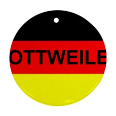 Rottweiler Name On Flag Round Ornament (Two Sides)