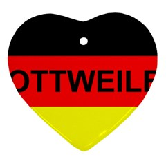 Rottweiler Name On Flag Heart Ornament (Two Sides)