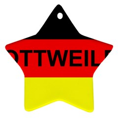 Rottweiler Name On Flag Star Ornament (Two Sides)