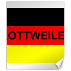 Rottweiler Name On Flag Canvas 8  x 10