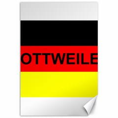 Rottweiler Name On Flag Canvas 12  x 18