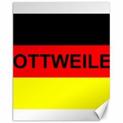 Rottweiler Name On Flag Canvas 16  x 20