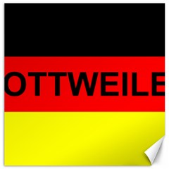 Rottweiler Name On Flag Canvas 20  x 20