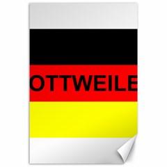 Rottweiler Name On Flag Canvas 24  x 36