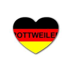 Rottweiler Name On Flag Rubber Coaster (Heart)