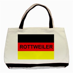 Rottweiler Name On Flag Basic Tote Bag (Two Sides)