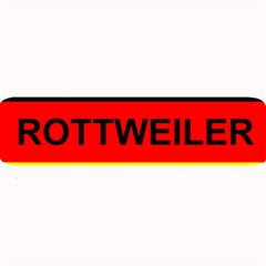Rottweiler Name On Flag Large Bar Mats