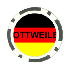 Rottweiler Name On Flag Poker Chip Card Guard