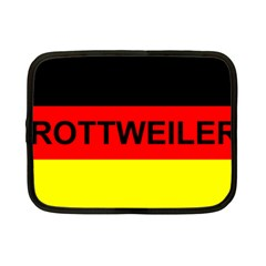 Rottweiler Name On Flag Netbook Case (Small)