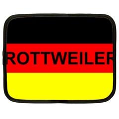 Rottweiler Name On Flag Netbook Case (Large)