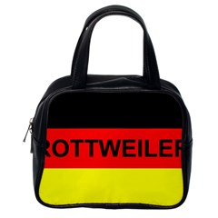 Rottweiler Name On Flag Classic Handbags (One Side)
