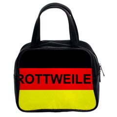 Rottweiler Name On Flag Classic Handbags (2 Sides)