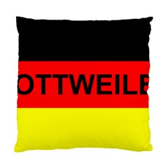Rottweiler Name On Flag Standard Cushion Case (Two Sides)