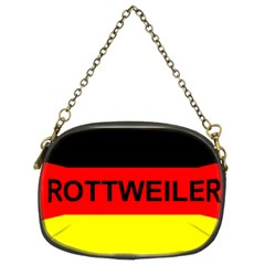 Rottweiler Name On Flag Chain Purses (Two Sides)