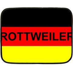 Rottweiler Name On Flag Fleece Blanket (Mini)