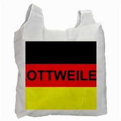 Rottweiler Name On Flag Recycle Bag (Two Side)