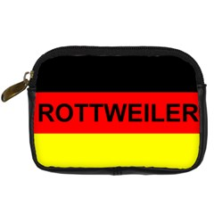 Rottweiler Name On Flag Digital Camera Cases